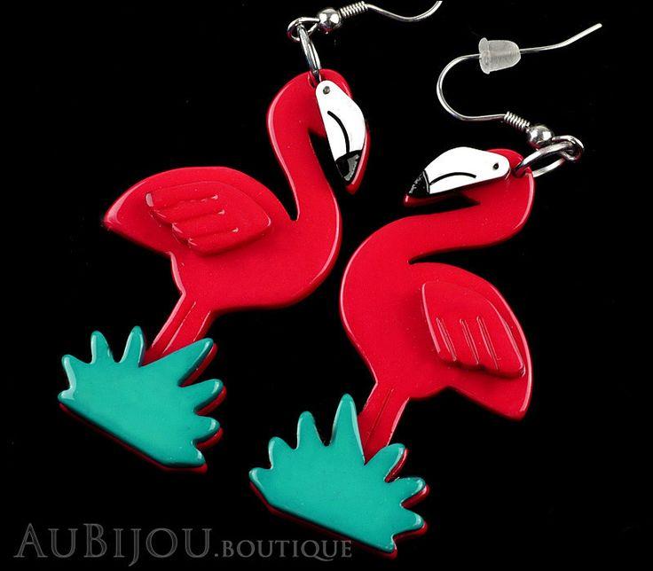 Erstwilder Flamboyant Flamingo Fair Bird Earrings
