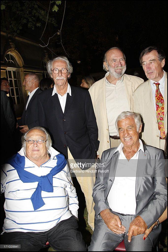 Georges Lautner, Jean Rochefort, Jean Pierre Marielle, Alain Delon, Pierre Vernier at Opening Party For The Paul Belmondo Museum In Boulogne-Billancourt.