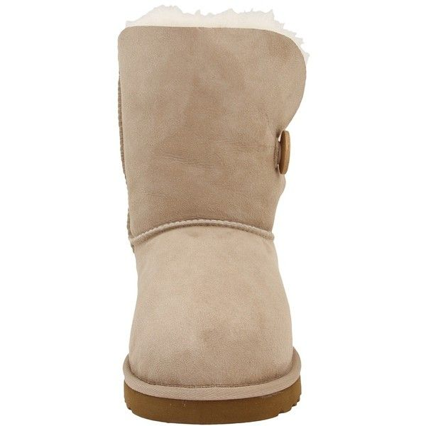 UGG Bailey Button Women's Boots (€110) ❤ liked on Polyvore featuring shoes, boots, ankle booties, ugg, ankle boots, fur ankle boots, fold over booties, short fur boots and fur booties