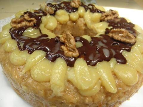 Rosca de Reyes o Pascua al dulce de leche