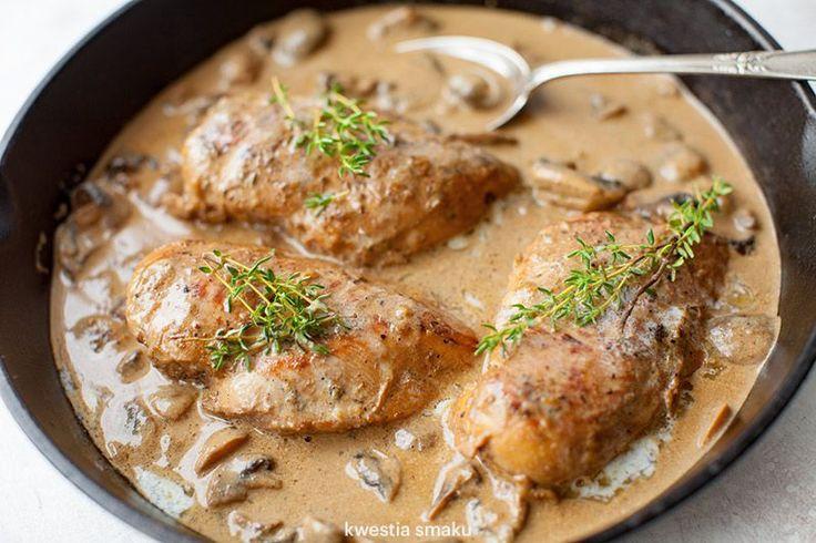Filety z kurczaka w sosie pieczarkowym