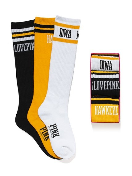 Victoria's Secret PINK University of Iowa Sock Gift Set #VictoriasSecret http://www.victoriassecret.com/pink/university-of-iowa/university-of-iowa-sock-gift-set-victorias-secret-pink?ProductID=82558=OLS=true?cm_mmc=pinterest-_-product-_-x-_-x