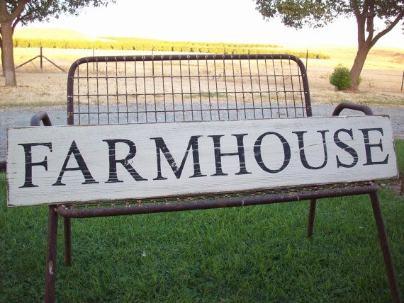 Large reclaimed wood sign with the background painted in antique white and FARMHOUSE painted in licorice black. In addition this awesome