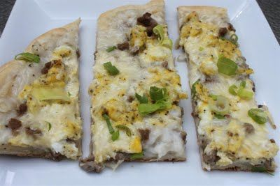 Sausage & Gravy PizzaHealthy Breakfast, Dinner Recipe