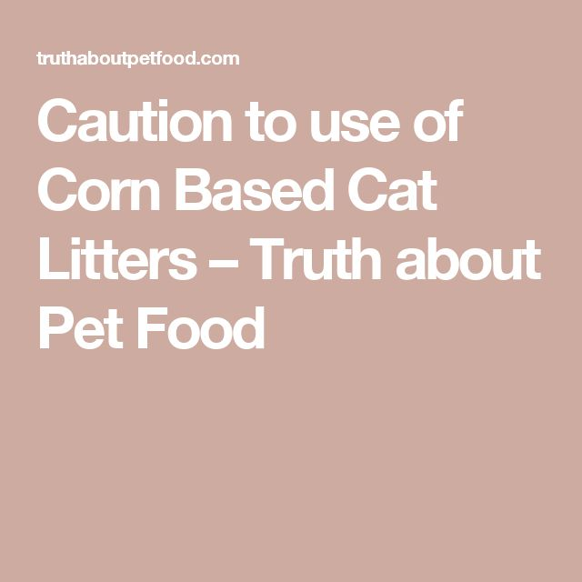 Caution to use of Corn Based Cat Litters – Truth about Pet Food