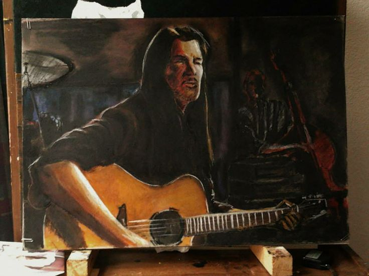 Willy Deville, pastel 50x70cm