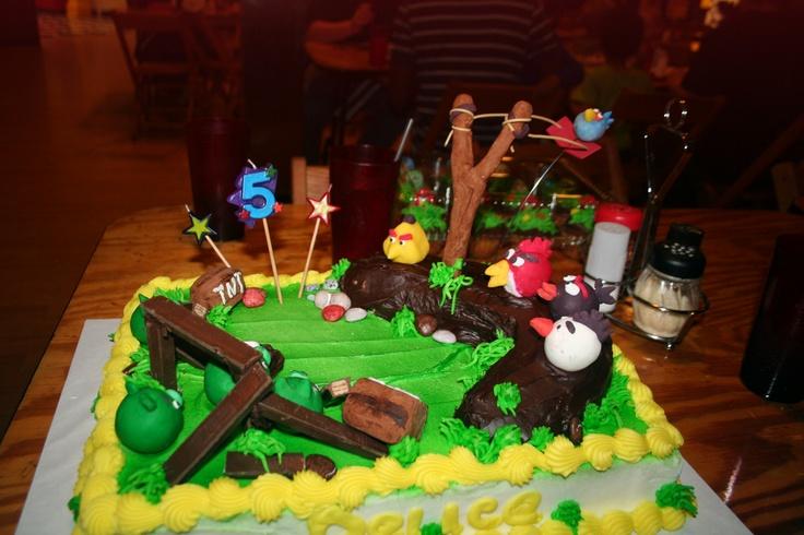 Angery bird cake by Cindy