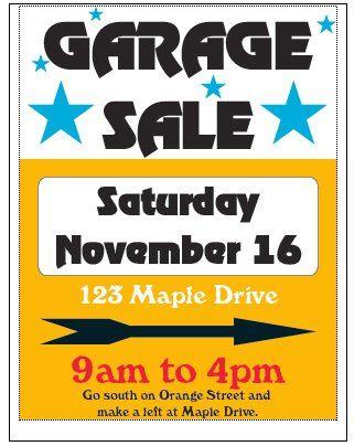 Yard Sale Templates. garage sale lawn sell sign red yard sale ...
