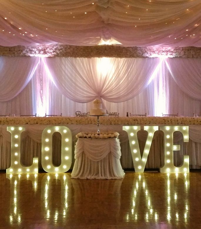 """36"""" (90cm) White Light Up LOVE (click for prices >>) - Amethyst Wedding & Event Decor"""
