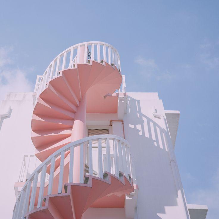 Escaliers de secours en colimaçon
