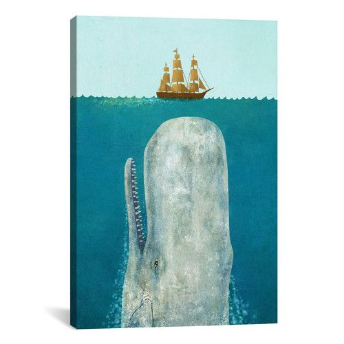 Found it at Wayfair - The Whale by Terry Fan Graphic Art on Wrapped Canvas