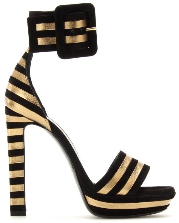 buy cheap pick a best cheap deals Yves Saint Laurent Snakeskin Suede Sandals collections online cheap sale browse 0EKw2jeNex