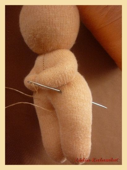 How to make / sculpt a doll from a piece of knit or stretchy fabric, great tutorial!