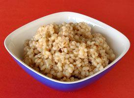 """#Orge """"#risotto"""" Avec l'orge perlé on peut préparer un très bon risotto, qui de surcroît ne requiert presque pas de brassage."""