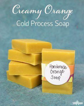 Back to Basics: Creamy Orange Cold Process Soap Tutorial