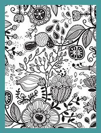 Sample Page Posh Coloring Book Vintage Designs For Fun And Relaxation