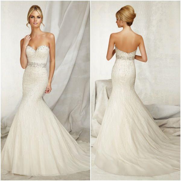 Sweetheart Neckline Trumpet Wedding Dress