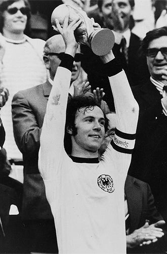 """Franz Anton Beckenbauer (born 11 September 1945) is a German football coach, manager, and former player, nicknamed Der Kaiser (""""The Emperor"""") because of his elegant style; his leadership; his first name """"Franz"""" (reminiscent of the Austrian emperors), and his dominance on the football pitch. He is generally regarded as the greatest German footballer of all time and one of the greatest and most decorated footballers in the history of the game."""