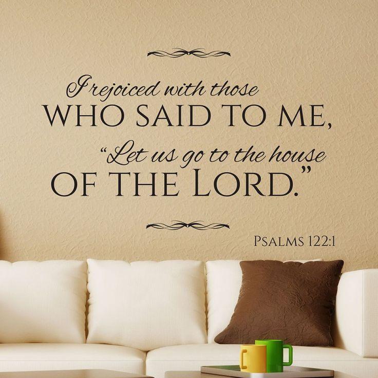 Psalms 122:1 Christian wall decal | Divine Walls