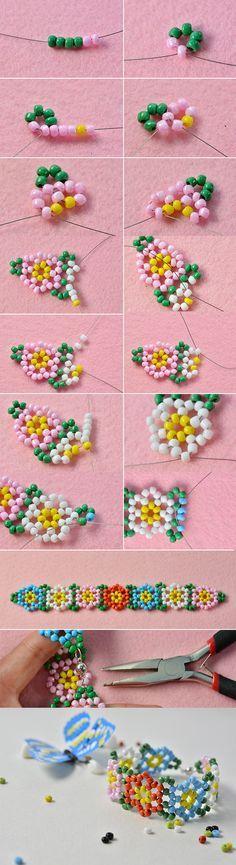 Like this colorful fresh beaded bracelet? LC.Pandahall.com will publish the tutorial soon. #pandahall
