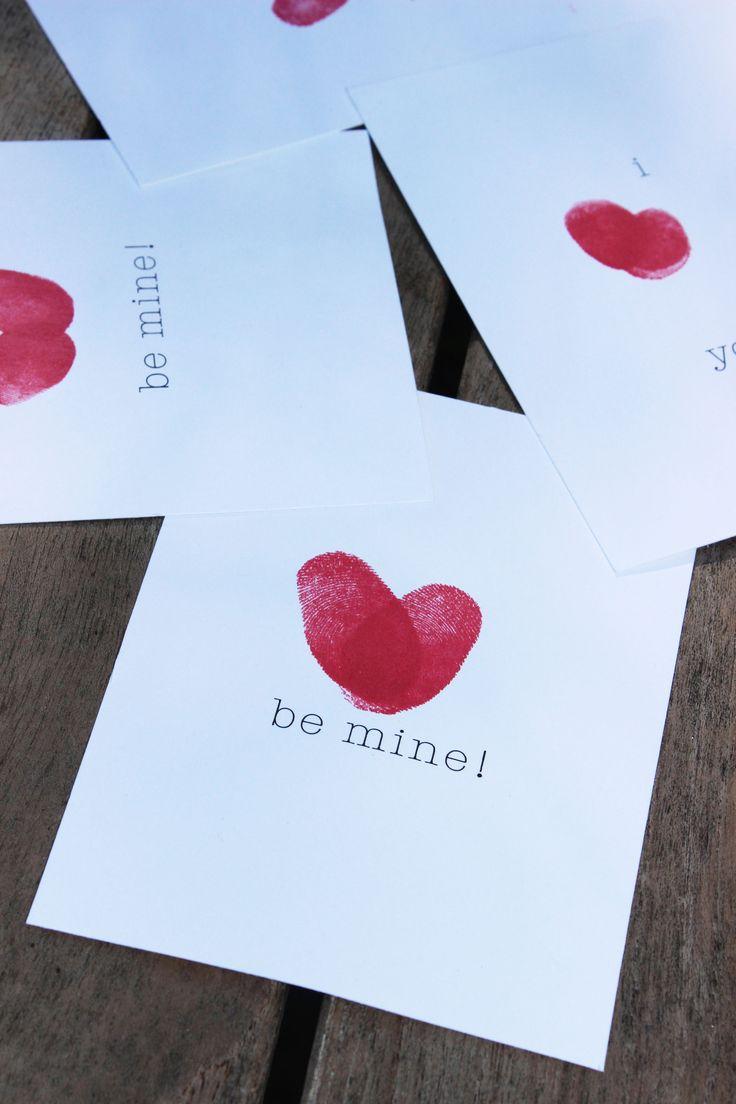 Easy Valentine Crafts For Kids Fingerprint Valentines