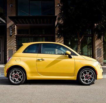 :) Fiat 500 @Britni Churnside Jessup Churnside Jessup Knowles a yellow bubble fiat<3