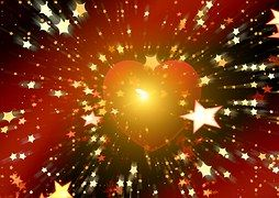 Heart, Star, Starry Sky, Sun, Galaxy