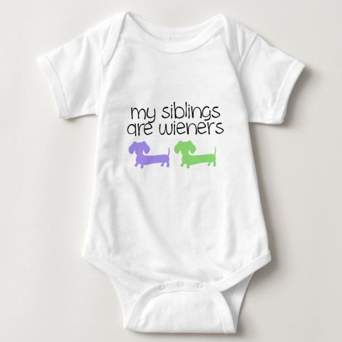 My Siblings are Wieners - Dachshund One Piece Baby Bodysuit - The Smoothe Store