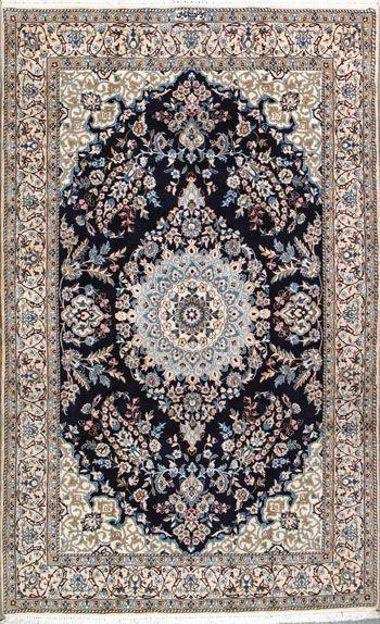 """Nain Persian Rug, Buy Handmade Nain Persian Rug 4' 11"""" x 8' 2"""", Authentic…"""