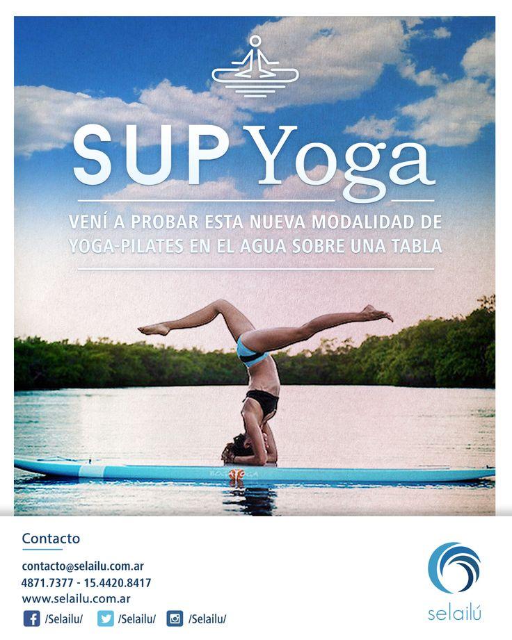 Nueva actividad náutica. Yoga sobre una tabla.