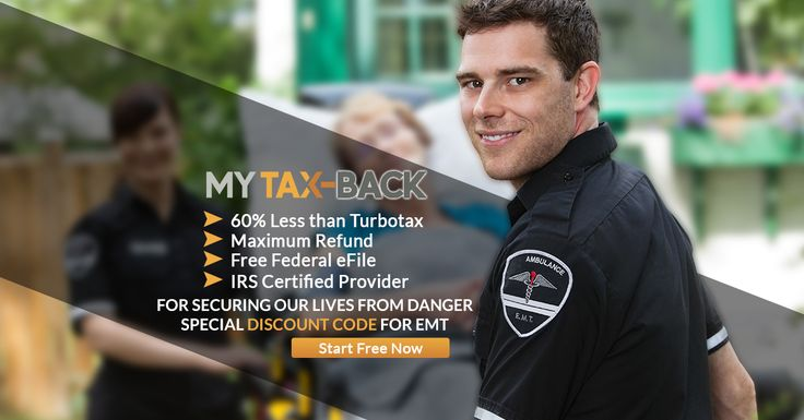 MyTax-Back wants to say a special thank you to all the men and women who are out saving lives working as EMT's. MyTax-Back has a special coupon for you.  http://www.mytax-back.com/e-file-emt-discount/