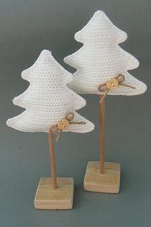 Kerstbomen op stokje