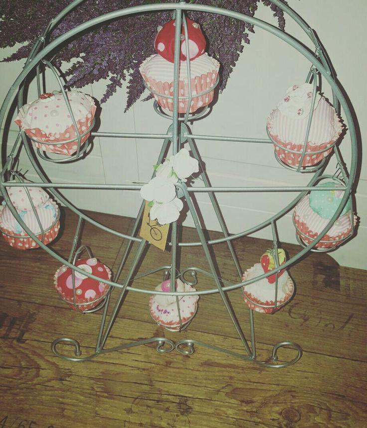 genähte Cupcakes für mein Riesenrad