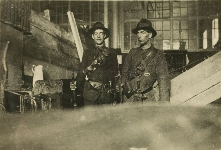 Volunteers and Citizen Army inside the GPO. Easter Week 1916