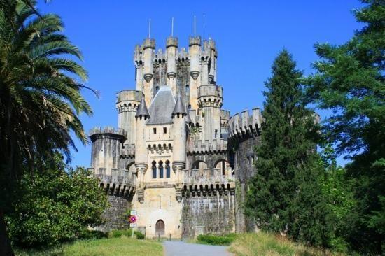 Castillo de Butron, Gatica, Vizcaya, Basque Country, Spain; this castle dates back to the 11th century
