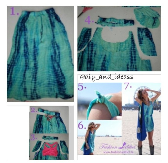 How to turn a long skirt into a cute dress:):) | Crafts ...