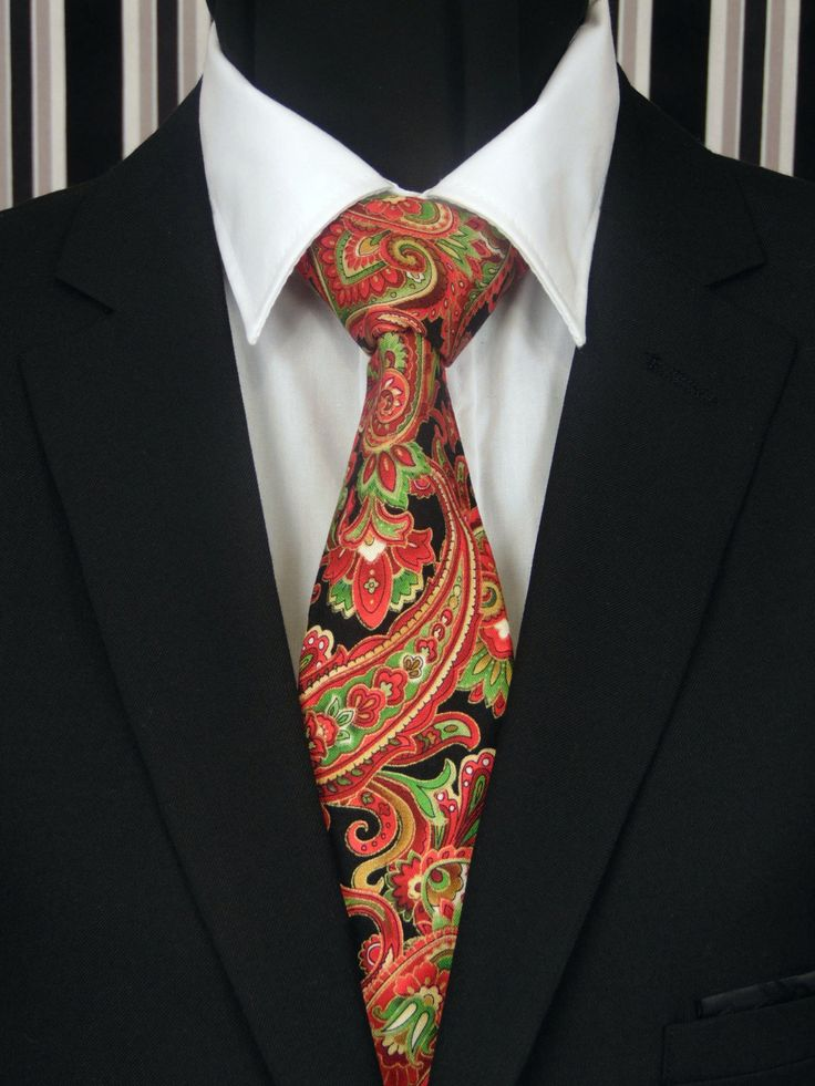 Christmas Tie Paisley – Mens Christmas Necktie, Available ...