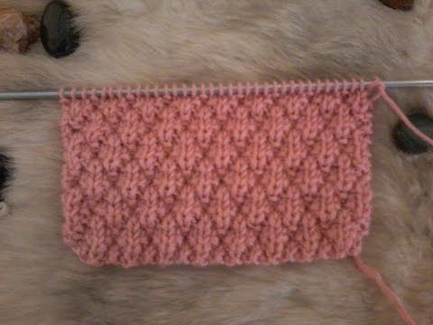 tuto point tricot : point de manne ( 2 ) - YouTube