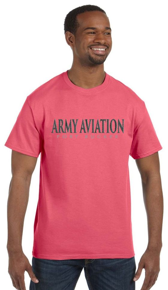 Army Aviation Fort Rucker T-Shirt- Coral Silk