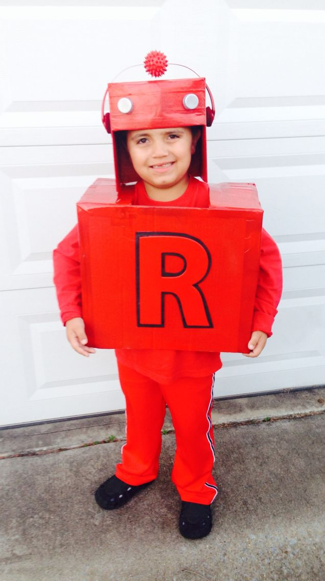 Letterland Red robot costume!