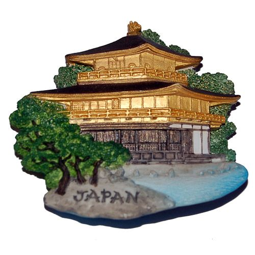 Resin Fridge Magnet: Japan. Kyoto. Kinkaku-ji (the Golden Pavilion)