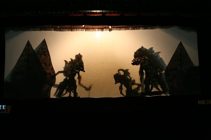 wayang kulit, Javanese shadow puppet theatre, Indonesia.