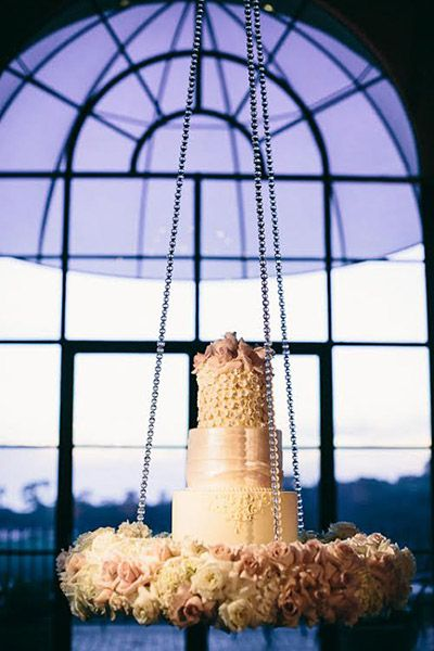 Chandelier Wedding Cakes - Upside Down Cakes   Wedding Planning, Ideas & Etiquette   Bridal Guide Magazine