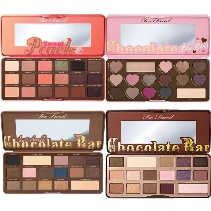 Too Faced Chocolate Bar u0026 Semi Sweet Peach u0026 Bon Bons Eyeshadow Palette Makeup  sc 1 st  Pinterest : chocolate box palette - Aboutintivar.Com