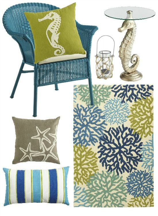 Create an outdoor beach oasis:  http://beachblissliving.com/outdoor-decor-for-a-beach-style-patio-and-porch/