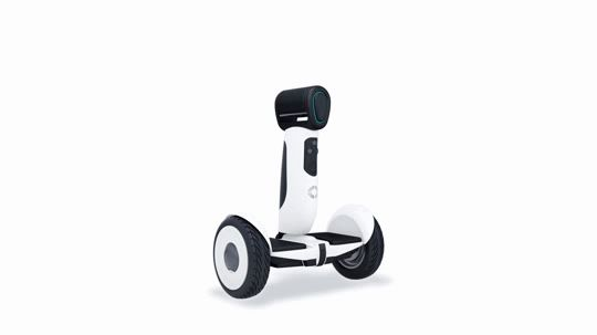 The Ninebot Segway doubles as a motorised scooter, and can follow owners   around as well as understanding its surroundings