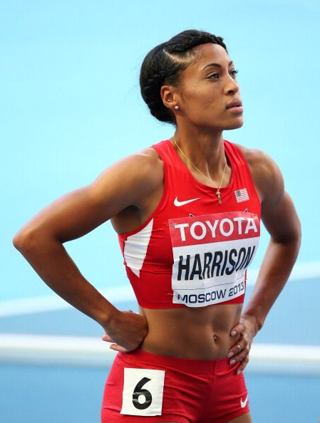 News Photo : Queen Harrison of the United States competes in...