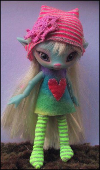 JpopDolls.net ™::Dolls::Kerrie Sawyer::Kyn by Kerrie Sawyer in Blue Resin (PREORDER)