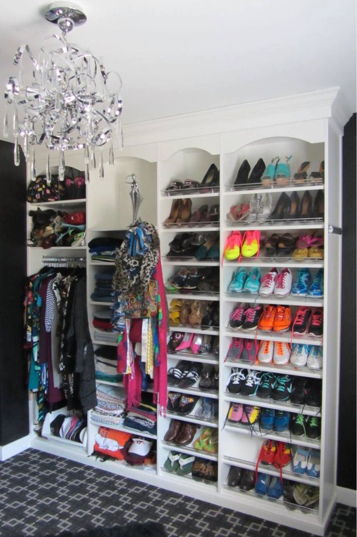 A Colorful, Organized Shoe Collection Can Double As Your Closet Decor.  Learn More Here