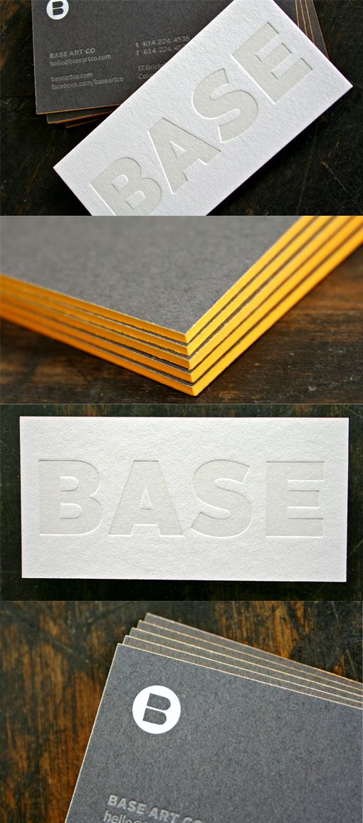 Chunky, Edge-Painted Letterpress Business Cards #creative #businesscards